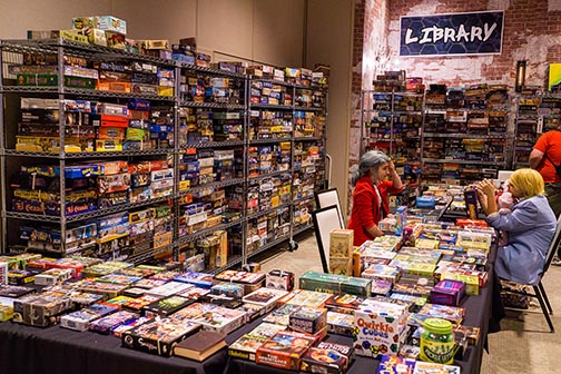 Game Library - photo by Jed